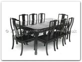 "Rosewood Furniture - ff7306l -  Round corner dining table longlife design with 2+6 chairs - 80"" x 44"" x 30"""