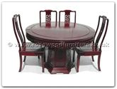 "Rosewood Furniture - ff7307d -  Round dining table dragon design with 6 chairs - 48"" x 48"" x 30"""
