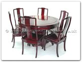 "Rosewood Furniture - ff7307p -  Round dining table plain design with 6 chairs - 48"" x 48"" x 30"""