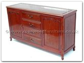 "Oriental Furniture - ff7313f -  Buffet with 4 drawers  and  2 doors french design - 60"" x 19"" x 34"""