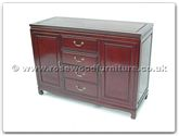 "Oriental Furniture - ff7313p -  Buffet with 4 drawers  and  2 doors plain design - 48"" x 19"" x 34"""