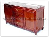 "Oriental Furniture - ff7313pb -  Buffet with 4 drawers  and  2 doors plain design - 60"" x 19"" x 34"""