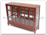 "Chinese Furniture - ff7321q -  Queen ann leg glass cabinet  - 48"" x 14"" x 36"""