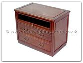 "Rosewood Furniture - ff7323p -  T.v. cabinet with 2 drawers  and  1 glass door plain design - 31"" x 19"" x 25"""