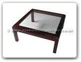 "Oriental Furniture Range - ORff7329 -  Bevel glass top coffee table - 36"" x 36"" x 16"""