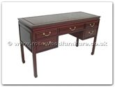 "Oriental Furniture Range - ORff7342p -  Desk with 5 drawers plain design - 52"" x 20"" x 31"""