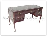 "Rosewood Furniture - ff7344 -  Queen ann legs desk with 5 drawers - 54"" x 24"" x 31"""