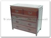 "Oriental Furniture Range - ORff7354ps -  Chest of 5 drawers plain design with shell handles - 38"" x 19"" x 36"""