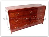 "Oriental Furniture Range - ORff7356p -  Chest of 7 drawers plain design - 60"" x 19"" x 34"""