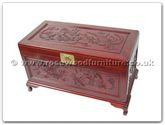 "Rosewood Furniture - ff7361 -  Chest dragon  and  phoenix design with camphorwood lined - 40"" x 20"" x 23"""