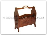 "Chinese Furniture - ff7366g -  Magazine rack grape design - 18"" x 7.5"" x 20"""
