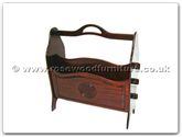 "Chinese Furniture - ff7366l -  Magazine rack longlife design - 18"" x 7.5"" x 20"""