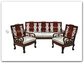 "Oriental Furniture Range - ORff7396tl -  High back sofa longlife design tiger legs (excluding cushion) - 72"" x 22"" x 36"""