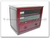 "Chinese Furniture - ff7423l -  T.v. cabinet with 1 drawer  and  1 glass door longlife design - 31"" x 19"" x 25"""