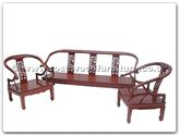 "Oriental Furniture Range - ORff7434fd -  Sofa set dragon design set of 3 - 72"" x 22"" x 32"""