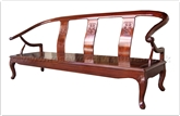 "Rosewood Furniture - ff7434ff -  Ox bow sofa french design - flower carved - 72"" x 22"" x 32"""