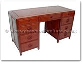 "Rosewood Furniture - ff7443l -  Desk with 9 drawers longlife design - 54"" x 24"" x 31"""