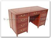 "Rosewood Furniture - ff7443p -  Desk with 9 drawers plain  design - 54"" x 24"" x 31"""