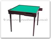 "Chinese Furniture - ff7465 -  Redwood folding legs mahjong table - 33"" x 33"" x 29"""