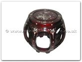 "Chinese Furniture - ff7472 -  Small stool with m.o.p - 12"" x 12"" x 13"""