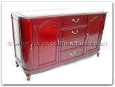 "Chinese Furniture - ff7475s -  Round corner buffet french design - 60"" x 19"" x 34"""