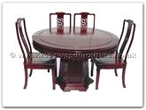 "Rosewood Furniture - ff7507d -  Round dining table dragon design with 8 chairs - 54"" x 54"" x 30"""