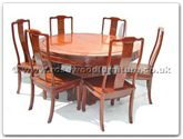 "Rosewood Furniture - ff7507l -  Round dining table longlife design with 8 chairs - 54"" x 54"" x 30"""