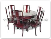 "Rosewood Furniture - ff7507p -  Round dining table plain design with 8 chairs - 54"" x 54"" x 30"""