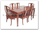 "Rosewood Furniture - ff7605l -  Sq dining table longlife design with 2+4 chairs - 62"" x 44"" x 30"""