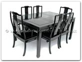 "Rosewood Furniture - ff7605p -  Sq dining table plain design with 2+4 chairs - 62"" x 44"" x 30"""