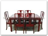 "Rosewood Furniture - ff7606d -  Round corner dining table dragon design with 2+4 chairs - 62"" x 44"" x 30"""