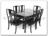 "Rosewood Furniture - ff7606l -  Round corner dining table longlife design with 2+4 chairs - 62"" x 44"" x 30"""