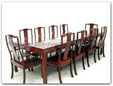 "Rosewood Furniture - ff7905l -  Sq dining table longlife design with 2+8 chairs - 96"" x 44"" x 30"""