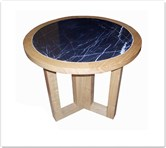 "Chinese Furniture - ff8013a -  Ashwood marble top round end table - 23.5"" x 23.5"" x 22"""