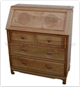 "Oriental Furniture Range - ORffalwri -  Ashwood writing desk with 4 drawers longlife design - 36"" x 16"" x 42"""
