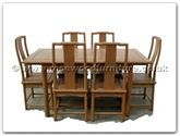 "Rosewood Furniture - ffam58tab -  Ash wood ming style folding extension sq dining table with 6 chairs - 58"" x 34"" x 30"""