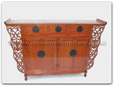"Oriental Furniture - ffas62cab -  Antique Style Altar Cabinet - 62"" x 14"" x 40"""