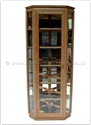 "Chinese Furniture - ffawccab -  Ash wood corner cabinet with spot light and mirror back - 24"" x 24"" x 78"""