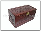 "Rosewood Furniture - ffb40chest -  Chest f and b design with camphorwood lined  and  casters base - 40"" x 20"" x 21"""