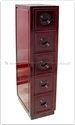 "Chinese Furniture - ffb5cdl -  Cabinet with 5 c.d. drawers longlife design - 10"" x 16"" x 45"""