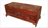 "Rosewood Furniture - ffb60chest -  Chest flower and bird  design - camphorwood lined - 60"" x 20"" x 24"""
