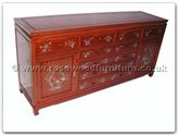 "Chinese Furniture - ffb72mop -  Buffet With 8 Drawers  and  2 Doors With M.O.P. - 72"" x 19"" x 34"""