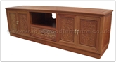 "Chinese Furniture - ffbattv -  T.v. cabinet bat and  longlife carved - 1 drawer and 4 doors - 78"" x 23.5"" x 24"""