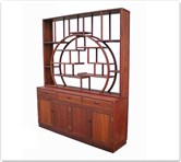"Oriental Furniture - ffbct -  Buffet w/3 drawers  and  4 doors plain design w/curio top - 61"" x 16"" x 84"""