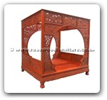 "Oriental Furniture - ffbedfc -  Bed full carved - 88.5"" x 78"" x 91"""