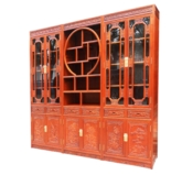 "Chinese Furniture - ffbokf -  bookcase full carved - 115.5"" x 15.75"" x 86.75"""