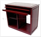 "Oriental Furniture Range - ORffbw36com -  Black wood computer desk with casters - 36"" x 19"" x 31"""