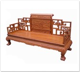 "Chinese Furniture - ffbw3sfc -  Curved legs bench w/full carved - 78"" x 24"" x 42"""