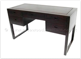 "Chinese Furniture - ffbwadesk -  Black wood desk with 5 drawers - 52"" x 24"" x 31"""
