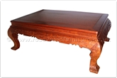 "Oriental Furniture - ffbwccof -  Curved legs coffee table w/full carved - 52"" x 35"" x 19"""
